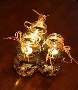 mason jar candle fall wedding centerpieces | iPunya