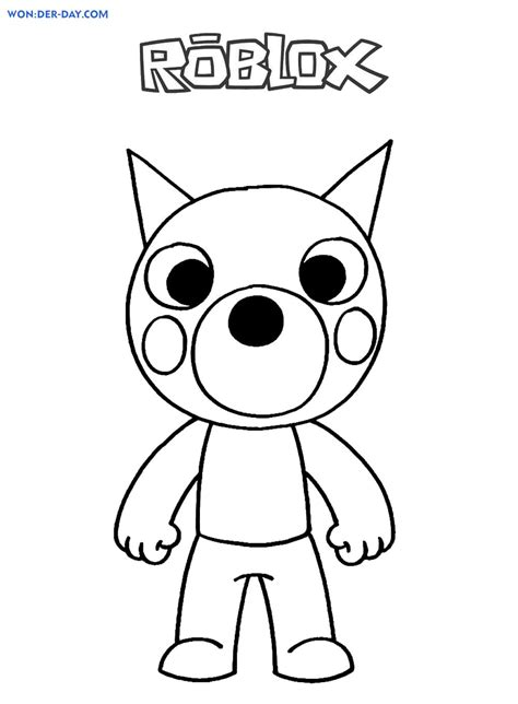 piggy roblox coloring pages  day
