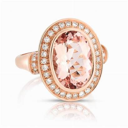 Stone Rings Colored Rose Jewelry Diamond Gold