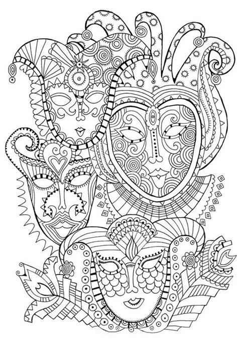 coloriage mandala carnaval dessin gratuit  imprimer