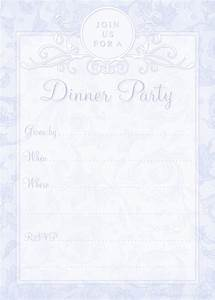 Blank Dinner Party Invitations | www.imgkid.com - The ...