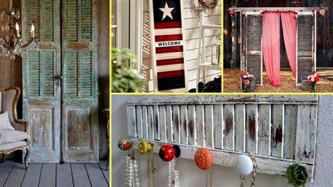 diy shabby chic shutter decorating ideas farmhouse style