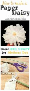 How To Make A Paper Daisy ~ Paper Flowers DIY Mothers Day ...