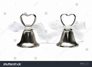 Two Small Wedding Bells Isolated On Stock Photo 11784169