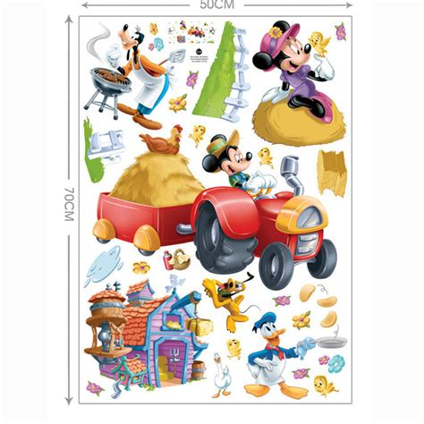 hot sale mickey mouse minnie mouse happy children 39 s room nursery farm sticker decoration wall