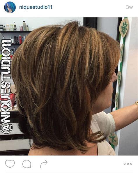 short layered medium length haircut lots  layers