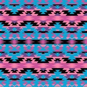 Navajo Tribal Print - pink/purple/blue fabric - tiffany_r ...