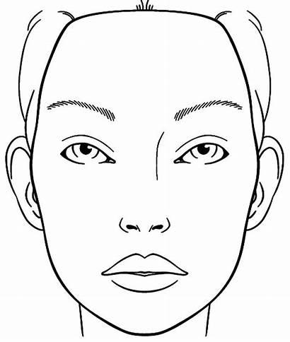 Face Blank Coloring Sketch Chart Makeup Charts