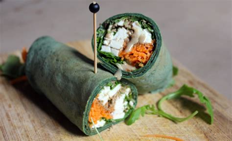 schreiber cuisine wrap à la spiruline carotte et feta recette florence