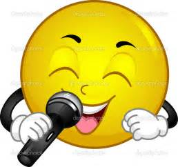 Singing Smiley Face Clip Art