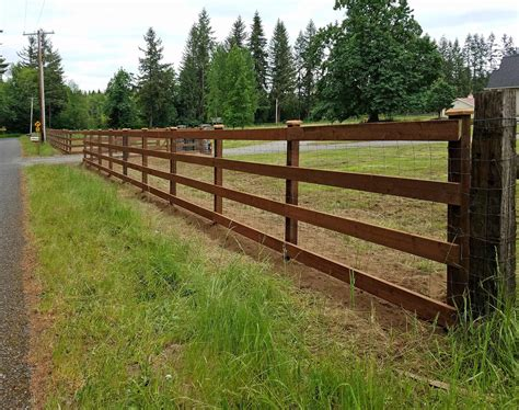 evergreen valley farm fence ajb landscaping fence