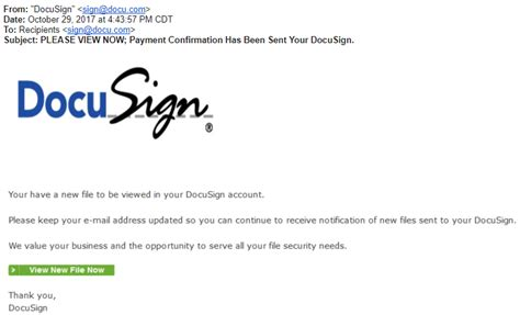 docusign  latest target  phishing scam