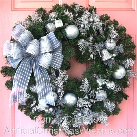 silver bells christmas wreath cornercrafters com xmas