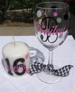 Sweet 16 Candle Glass Ideas