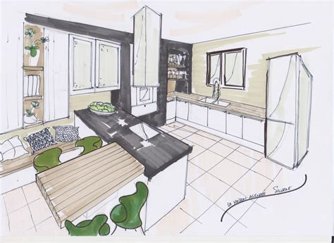 croquis cuisine 137 best croquis espace images on architecture
