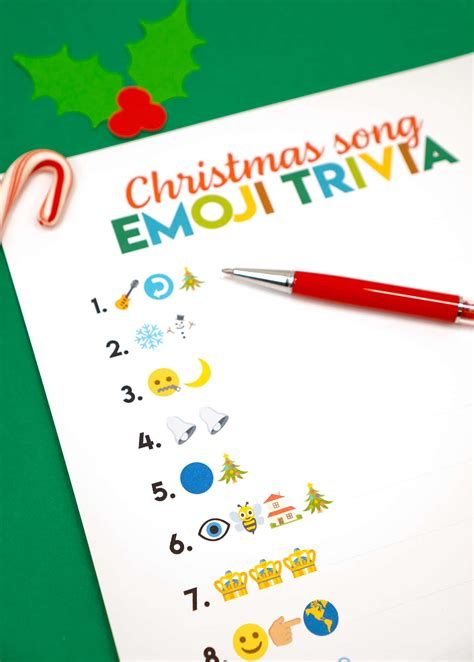⚠️ read our coronavirus live blog for the latest news & updates 2 Printable Emoji Christmas Songs Game - Happiness is Homemade