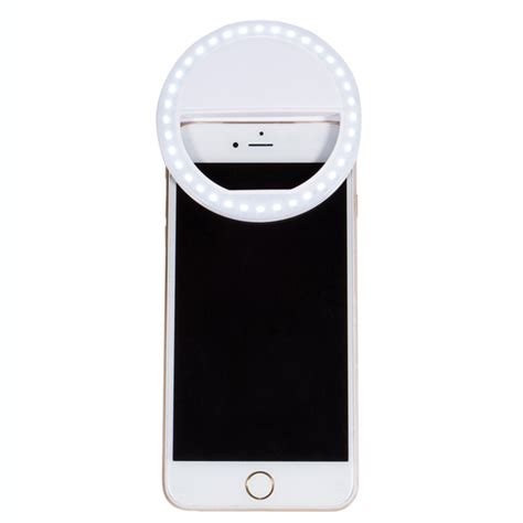 light on iphone selfie portable led ring fill light photography for