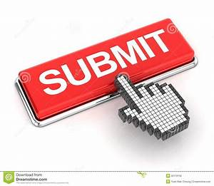 Clicking a submit button stock illustration. Illustration ...