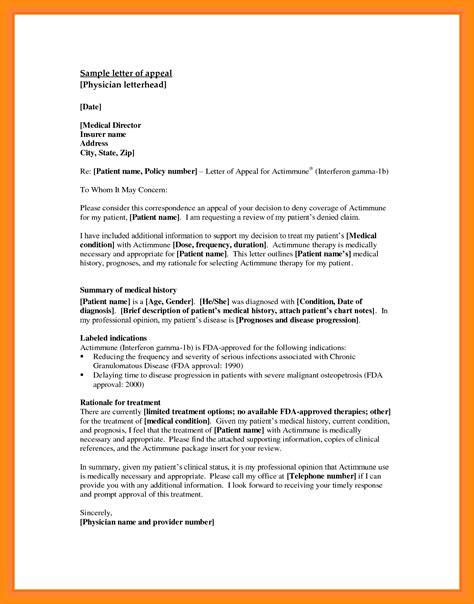 appeals letter sample appeal letter