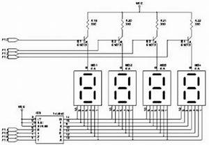 74ls247 7 segment display circuit With counter circuit additionally 7 segment display together with 7 segment