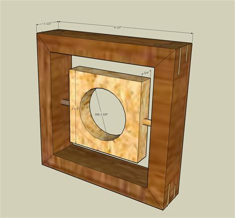 contemporary clock  wood whisperer