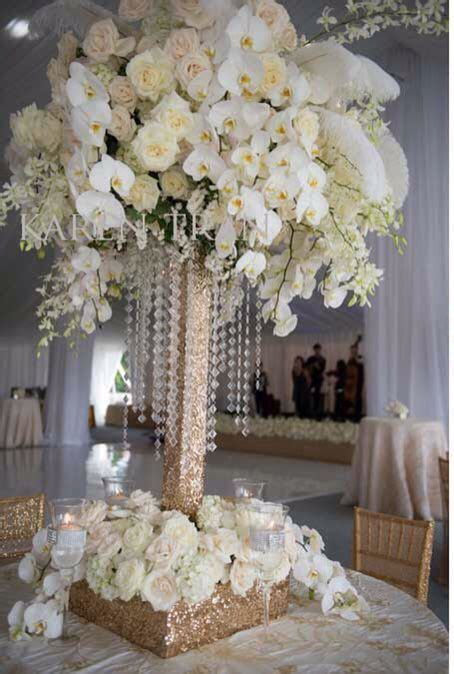 Orchids Gold Base White Orchid Wedding Diy