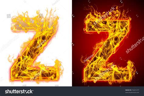 Fire Letter Z On Red White Stock Illustration 76431277