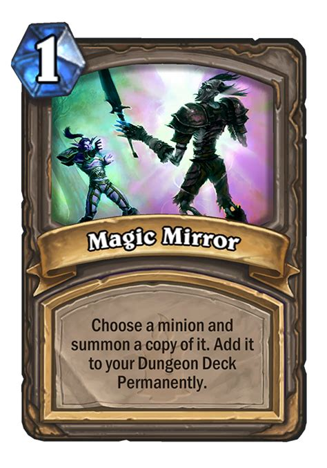 Mirror Image Hearthstone Magic Mirror Hearthstone Card