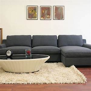 Baxton studio kaspar twill upholstered modern 3 piece for Baxton studio sectional sofa grey