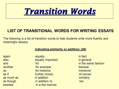 Essay Transition Words by Essay Transition Words Admission Essay Help