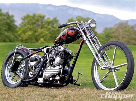 Old School Knucklehead Chopper. [desktop Wallpaper