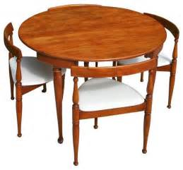 mid century modern table and four chairs midcentury