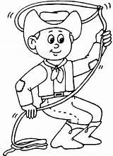 Cowboy Coloring Western sketch template