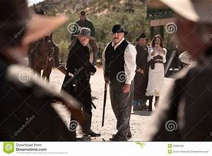 Cowboys Battle In Street Royalty Free Stock Images - Image ...