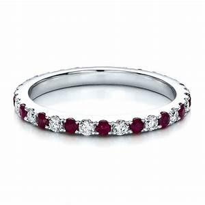 ruby band with matching engagement ring 100002 With ruby wedding band rings