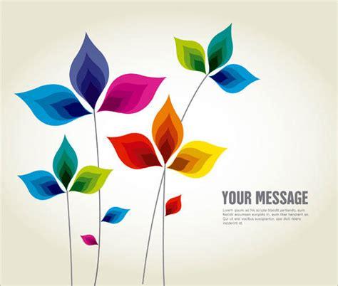illustrator background color abstract multicolor leaf background design illustration