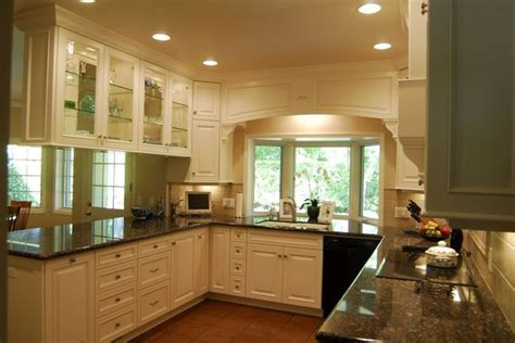 images of glass cabinets over kitchen peninsula   Cabinets