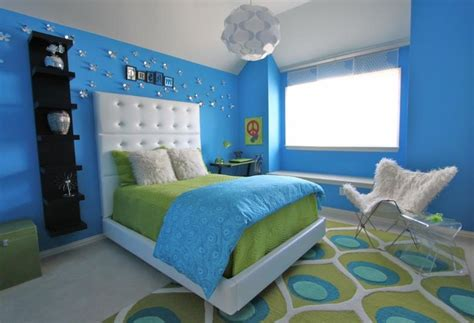 Blue And Green Bedrooms by Lime Green And Blue Modern Bedroom Decorating Ideas