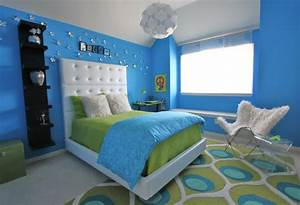 lime green and blue modern bedroom decorating ideas With blue and green bedroom decorating ideas