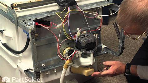 dishwasher repair replacing  motor  pump kit ge