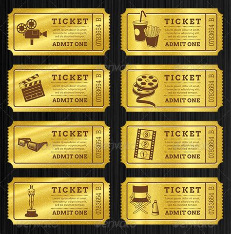 Golden Ticket Printable Template by 115 Ticket Templates Word Excel Pdf Psd Eps Free