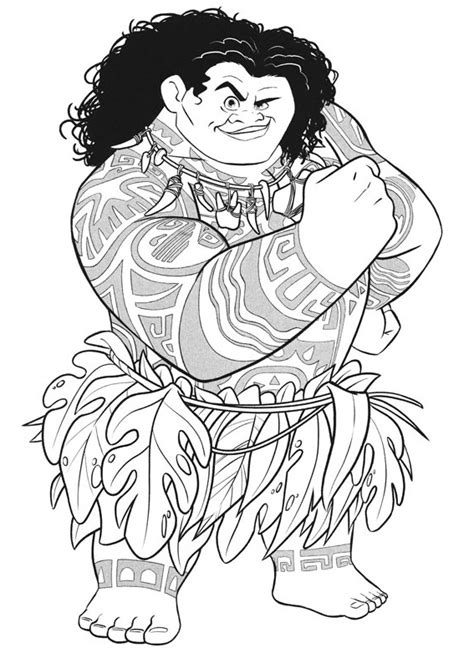 maui  moana coloring page  printable coloring pages  kids