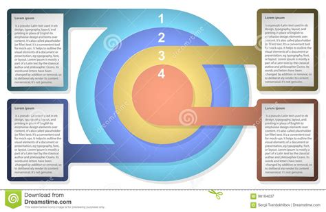 infographic diagram template  concentric circles