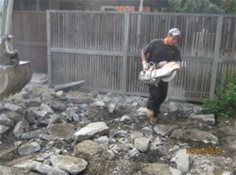 how to remove a concrete patio peninsula hauling demo