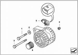 Original Parts For E60 520i M54 Sedan    Engine Electrical System   Alternator Individual Parts