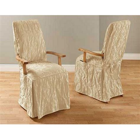 slipcovers for armed dining room chairs dining room arm chair covers matelasse damask arm dining