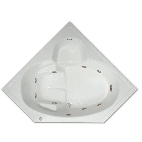 45 Ft Drop In Bathtub by 5 Ft Corner Drop In Whirlpool Tub In White Lpi305 W Rsp