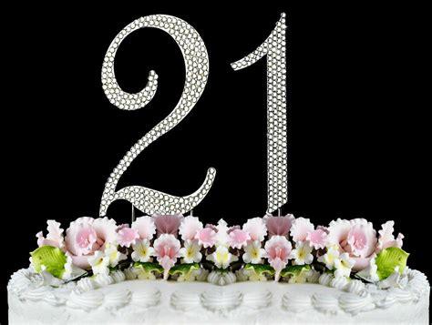 large rhinestone number  cake topper  birthday