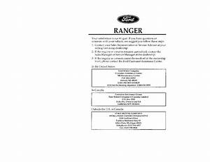 1996 Ford Ranger Owners Manual