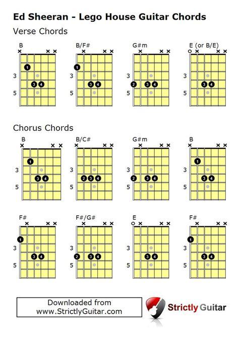 play lego house ed sheeran guitar chords